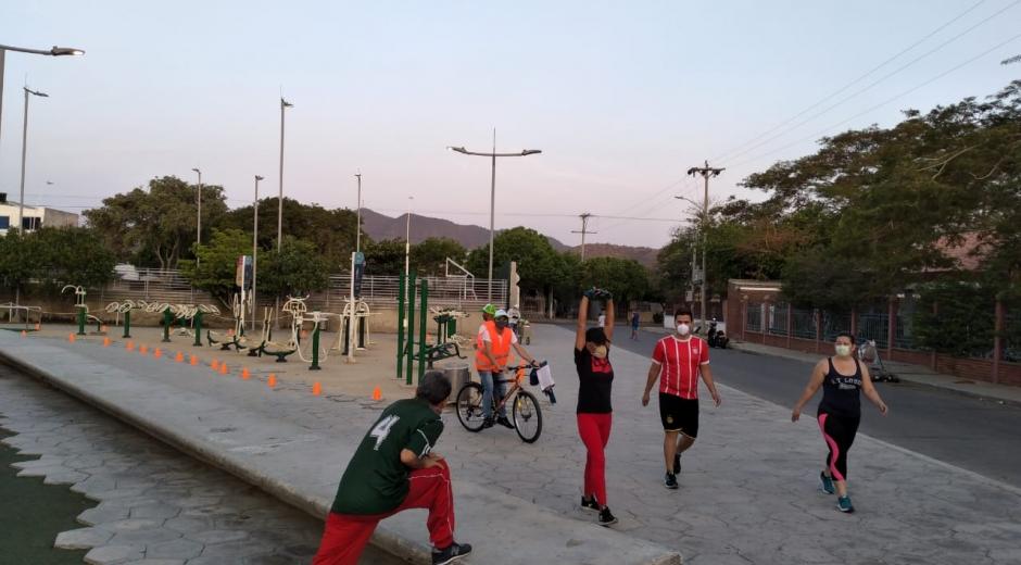Actividad deportiva en cuarentena.
