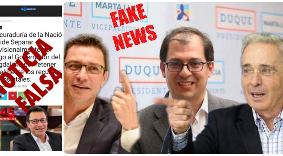 Guerra de Fake News entre Caicedo y los uribistas.