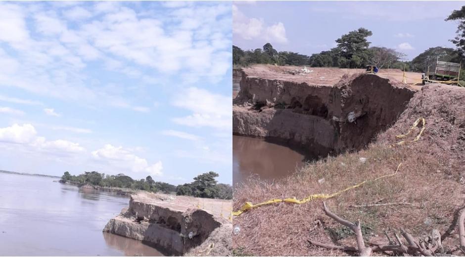 La erosión costera tiene preocupada a la comunidad.