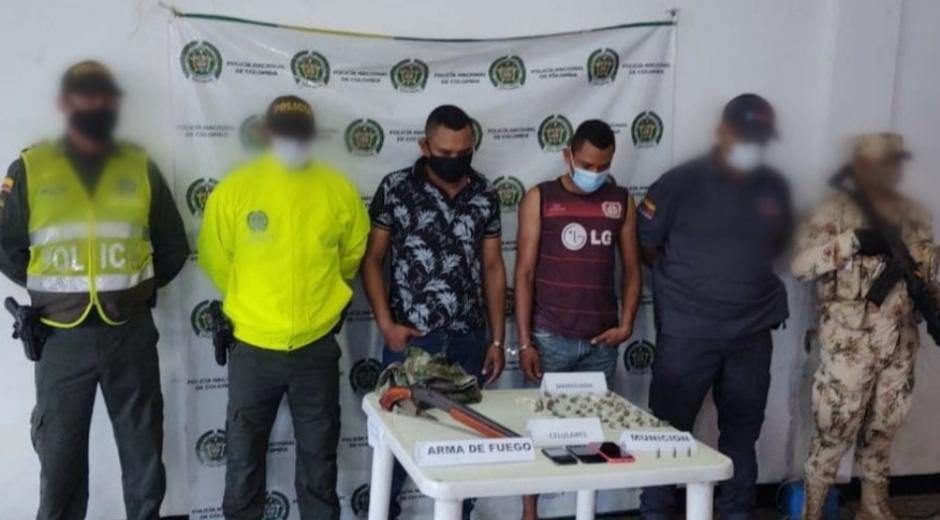 Los capturados fueron identificados como Fabián Yesid Tovar Beleño y Luis Miguel Tovar Beleño.