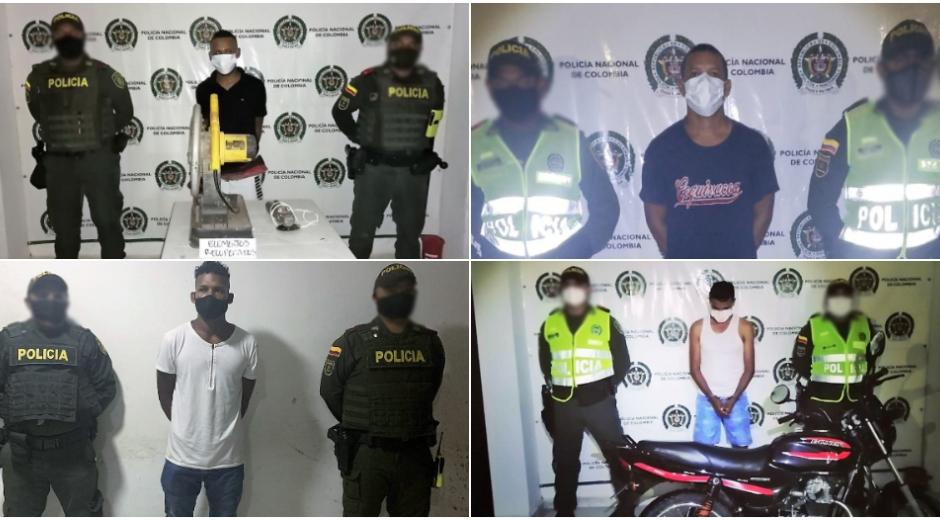 La Policía del Magdalena capturó a cuatro hombres: tres en Fundación y uno en Zona Bananera.