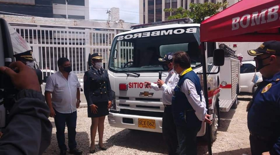 El vehículo servirá de gran apoyo para controlar emergencias en la cabecera municipal y sus corregimientos.