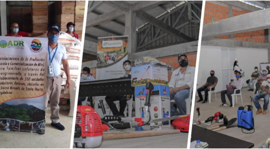 En total fueron dos proyectos apoyados por la ADR, como lo son la Caña Panelera en el Cesar y la producción apícola en Bonda.
