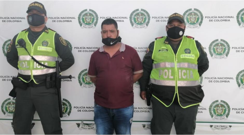 La persona capturada fue identificada como Carlos Andrés Barrios Casas.