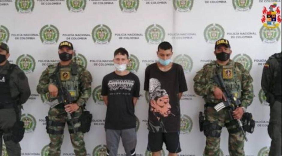 Jóvenes capturados en Pereira.