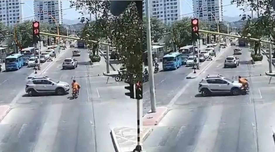Momento del accidente.