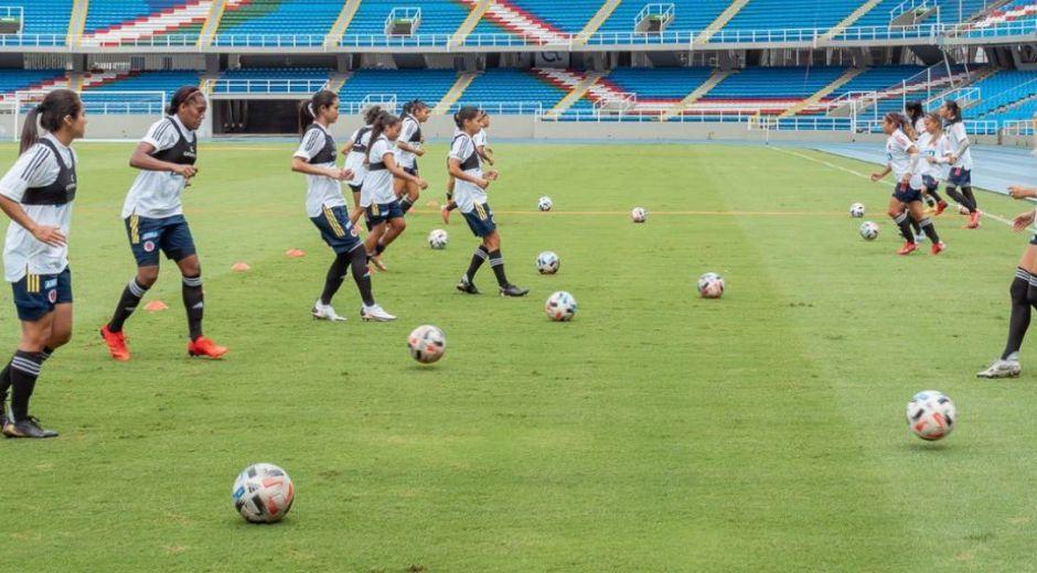 Entrenamiento de la selección Colombia femenina.