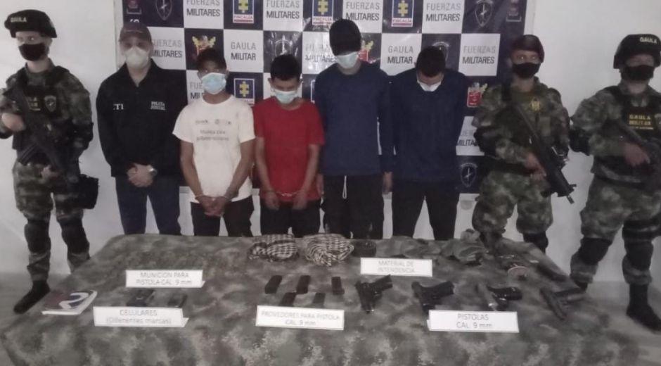 Estas personas fueron capturadas gracias a la rápida reacción de unidades del Gaula Militar Norte de Santander y del Batallón de Fuerzas Especiales Urbanas del Ejército Nacional