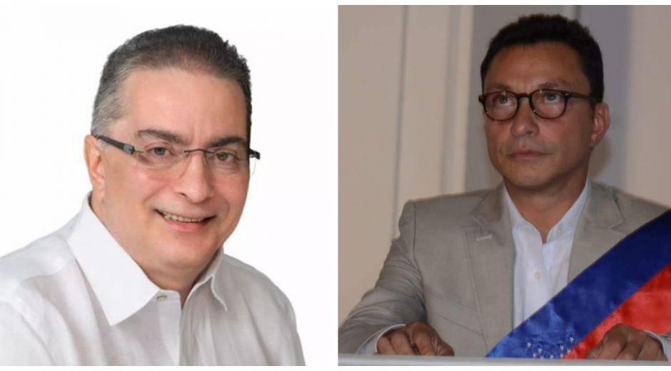 Hernando Guido (izq) criticó al gobernador Carlos Caicedo, lo que originó la respuesta.