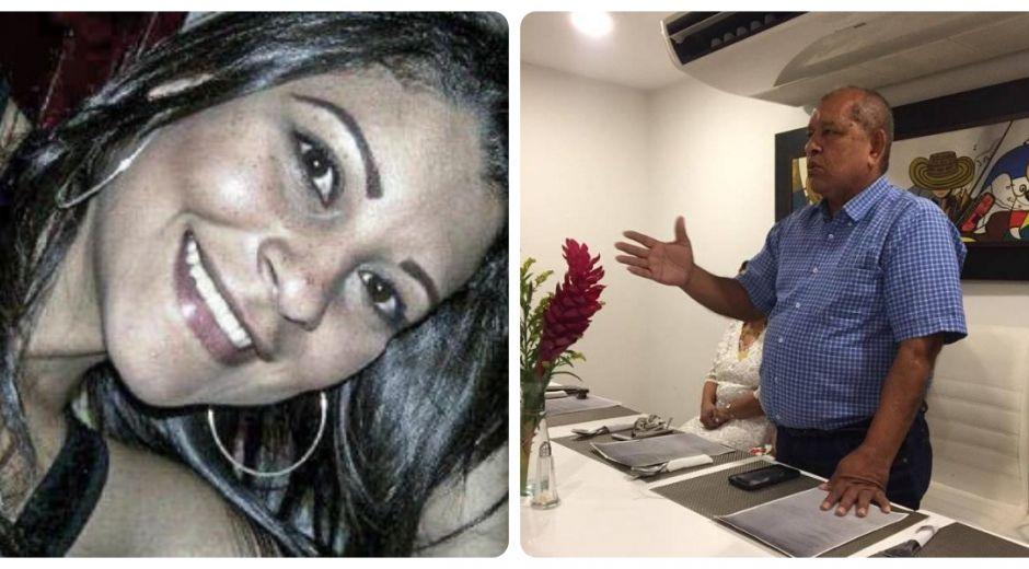 Alides Barros Acosta (izq) falleció, al igual que su papá (der)