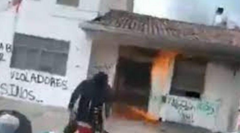 CAI quemado en Popayán.