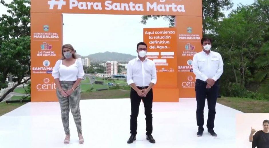 Virna Johnson, Carlos Caicedo y Jorge Rodríguez.