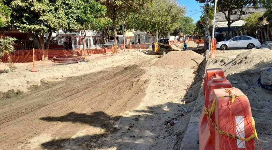 Obras de malla vial en Santa Marta