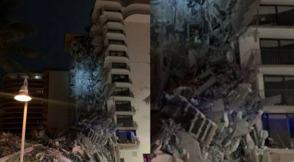Edificio colapsado.