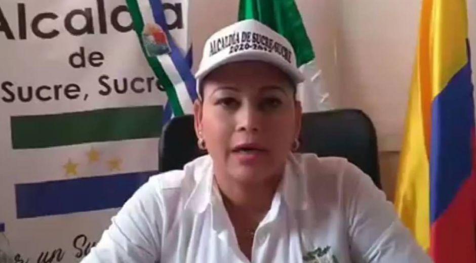 La alcaldesa de Sucre, Sucre, Elvira Julia Mercado Acevedo