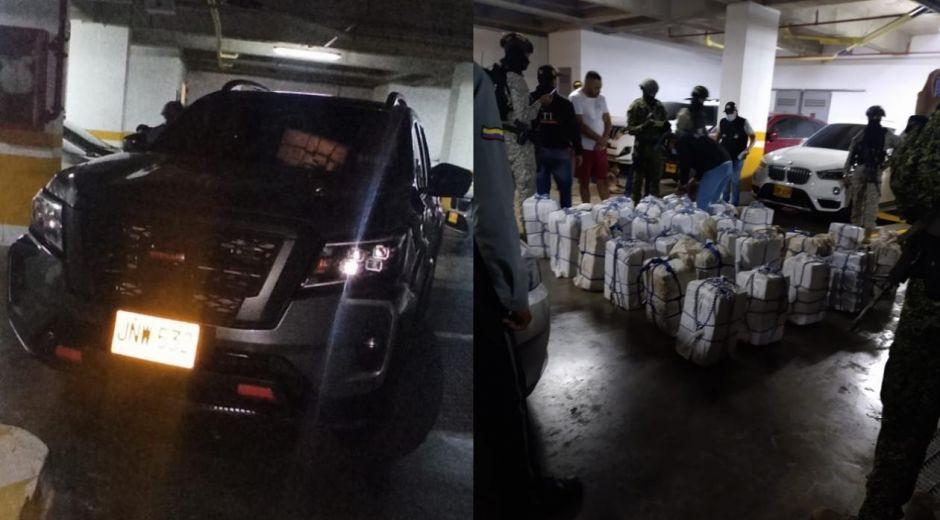 Droga incautada en Puerto Colombia.