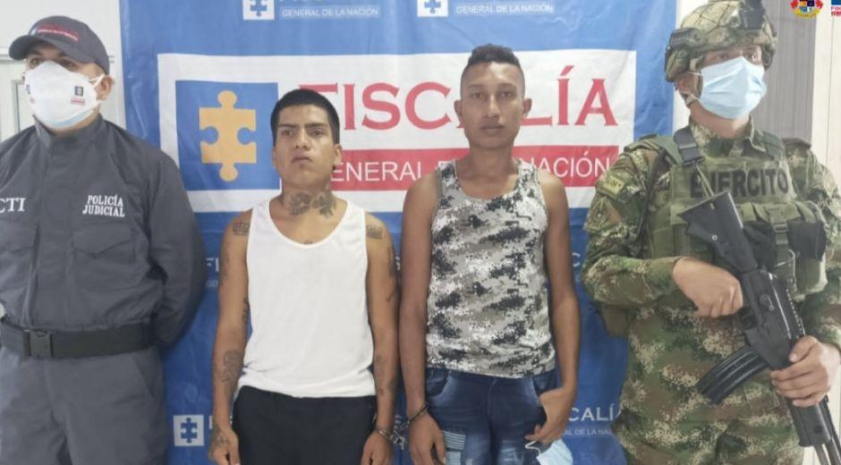 Robert Antonio Rivadeneria Sevillano, alias 'Antiny' y Jean Weiner Hernández, alias 'Cali'.