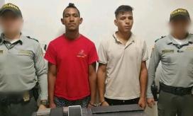 Sujetos capturados por presunto robo a turistas.