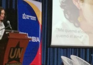 Natalia Ponce de León, símbolo del ataque con ácido en Colombia.