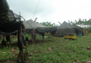Los militares venezolanos están en la orilla colombiana del río Arauca, en el lugar conocido como Bocas de Jujú.