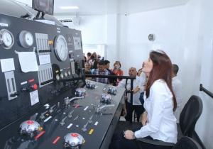 La gobernadora Rosa Cotes de Zúñiga fue la encargada de poner en marcha la nueva cámara hiperbárica en el hospital Fernando Troconis,