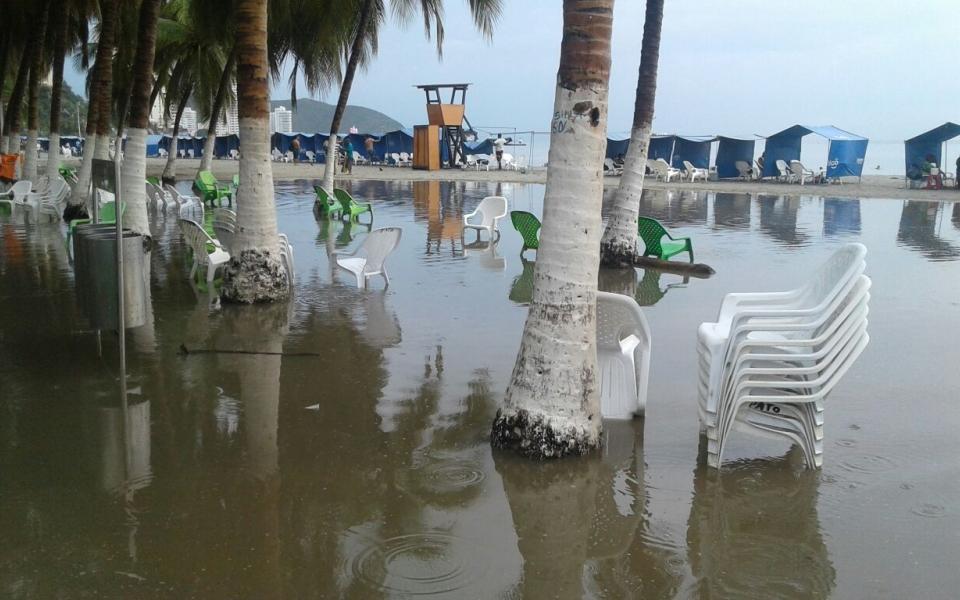 Zona de la playa de El Rodadero