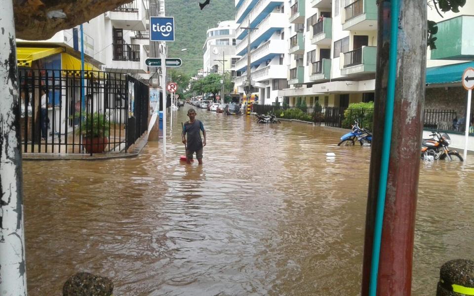 Calles de El Rodadero.