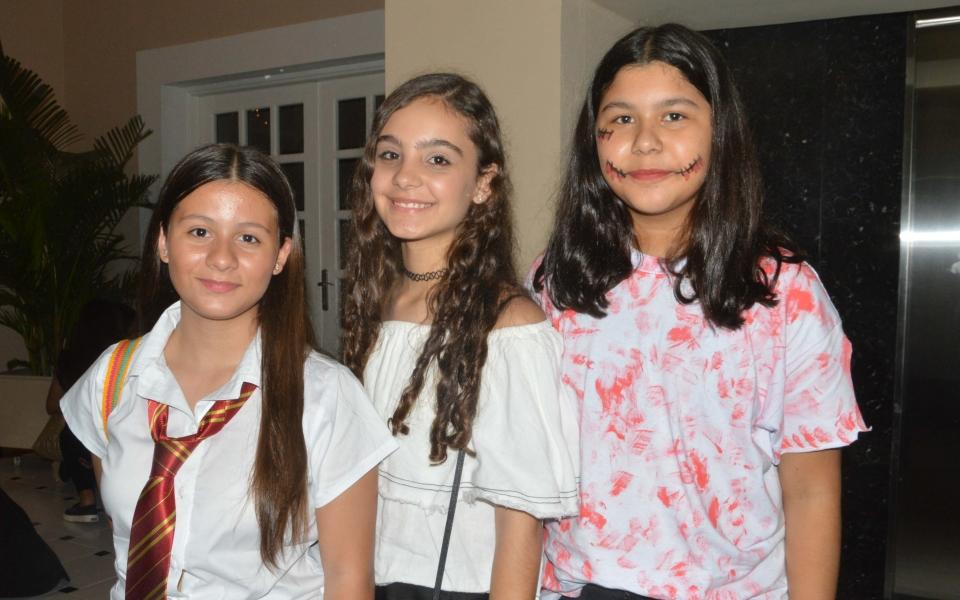 Juanita Alvárez, Isabella Caballero y Cristina Zúñiga