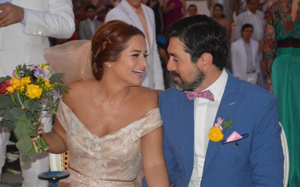 Mema Carrillo y Jaime Osorio durante la ceremonia