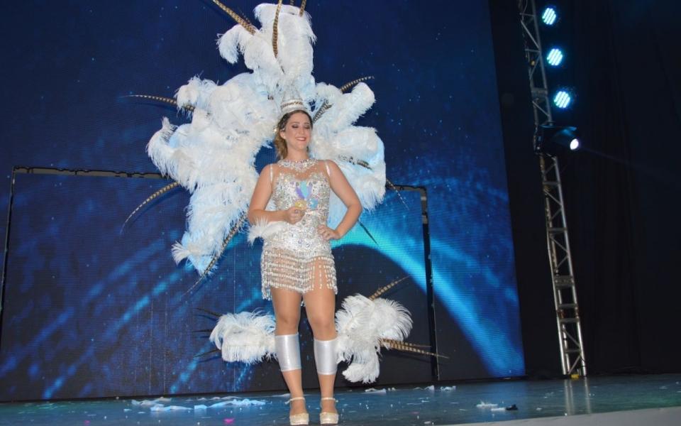 Cristina Lacouture Lequerica, durante el show de la noche.
