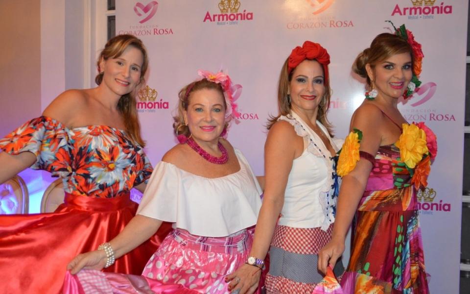 Beatris Vives, Camila Espinosa, Raquel Navarro y Sarita Caballero.