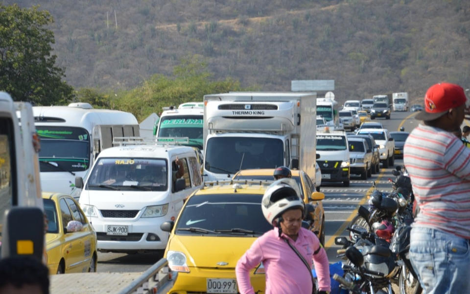 El accidente causó congestión vehícular.