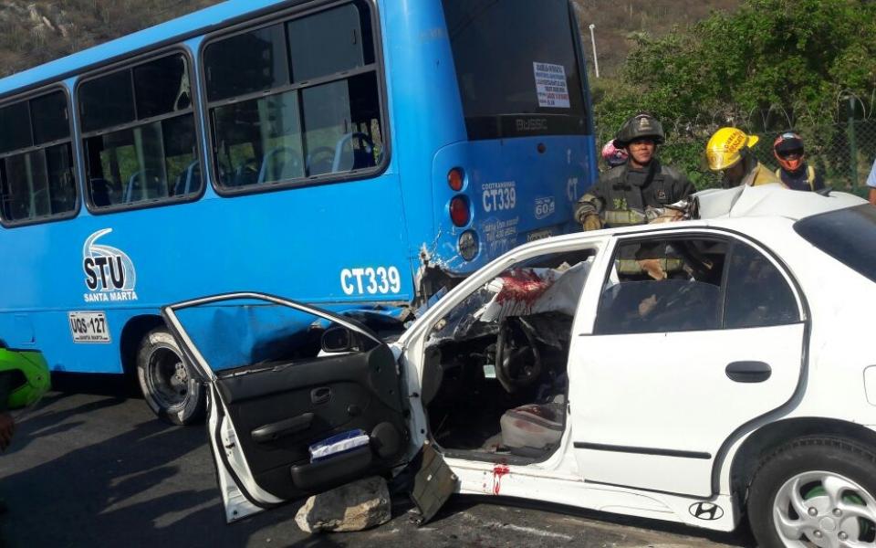 Al parecer el exceso de velocidad fue la causa del accidente.