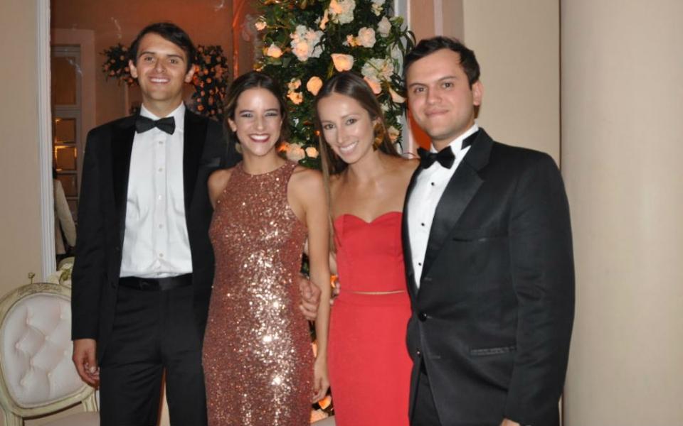 Julián Uribe, Amalia Arango, Daniela Valencia y Juan Lauregui.