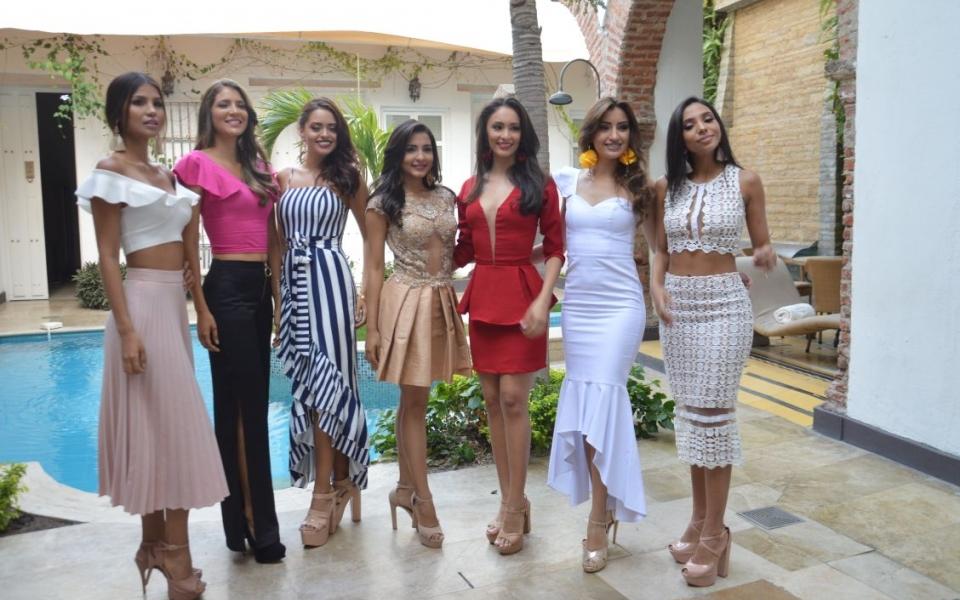 Las siete aspirantes a representar al Magdalena en el Reinado Nacional de la Belleza.