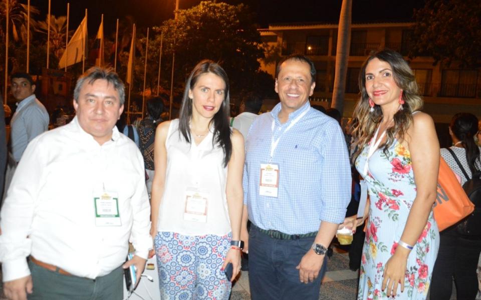 Ómar García, presidente de Cotelco Magdalena; Liliana Maldonado, Eduardo Osorio y Adela Becerra.