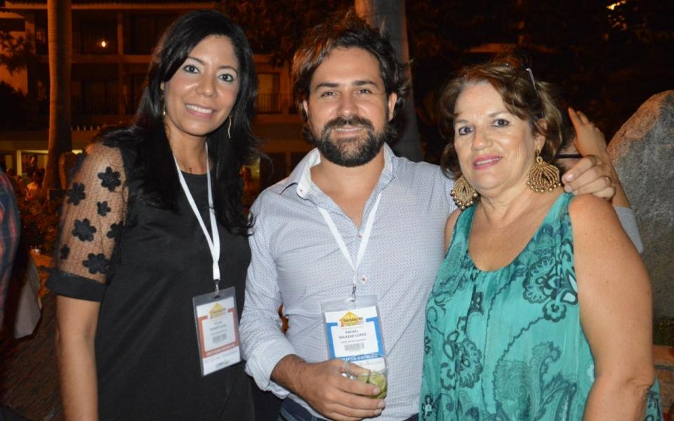 Pilar Durán, Rafael Salazar y Marina López.
