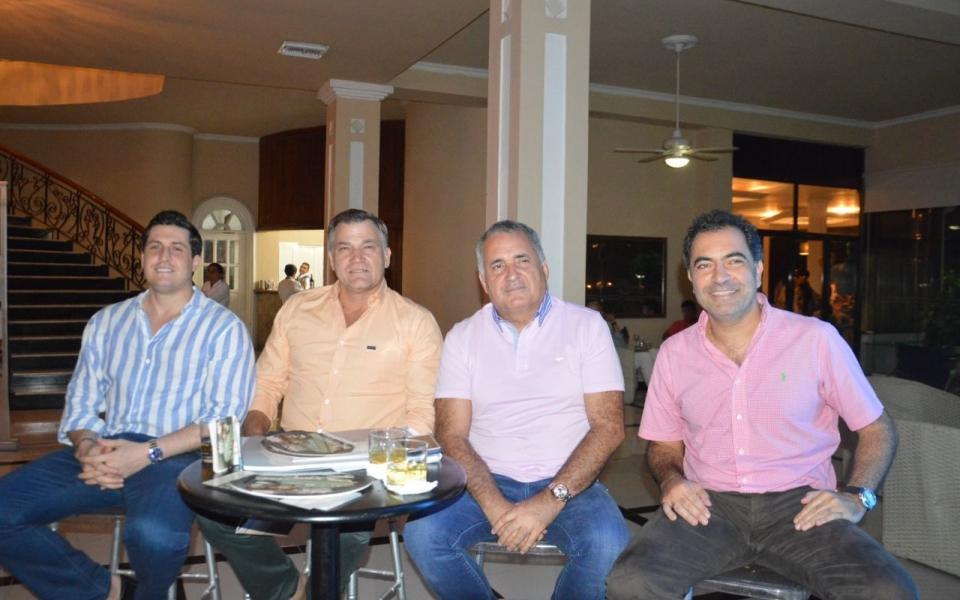 Francisco 'Francho' Dávila, Robert Friebe, Ambrosio Plata y Edgar Chalhub.