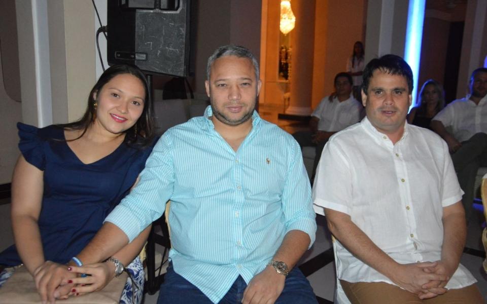 Stefanía Ramírez Romero, Luis Fernando W. y Fidel Vargas.