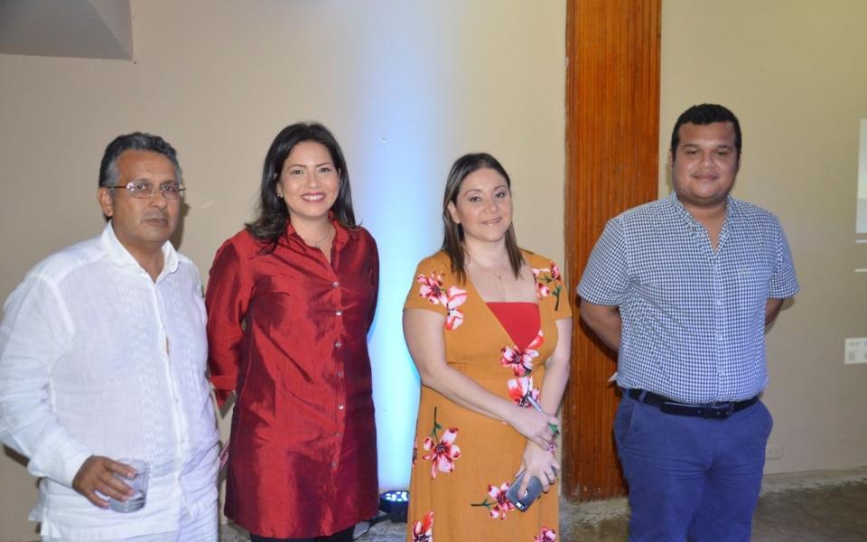 Nancy Llath, Margarita Rodríguez, Óscar Fajardo e Ian Farouk Simmonds.