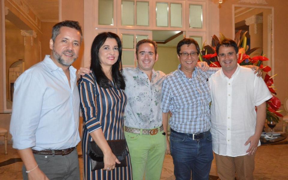 Mauricio Arrieta, Janeth, Joaquín Gutiérrez, Iván Calderón y Fidel Vargas.