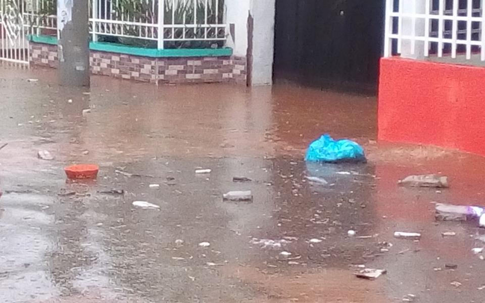 La afectación de la lluvia se evidenció en diversos sectores de Santa Marta.
