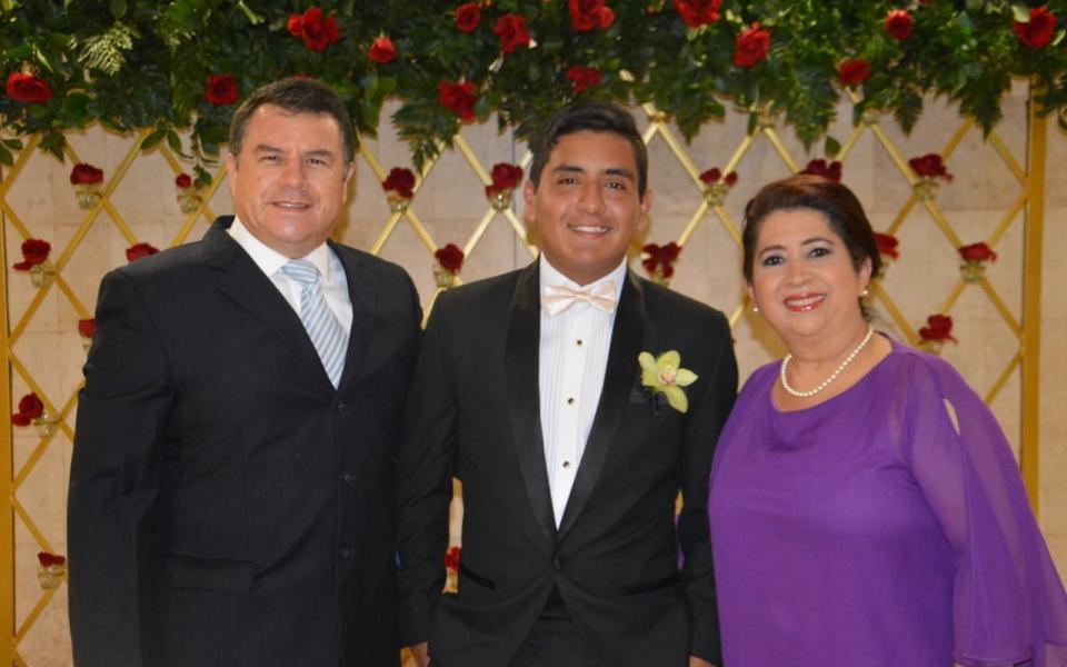 Bryan Cantor, Gloria Orozco y José Cantor.