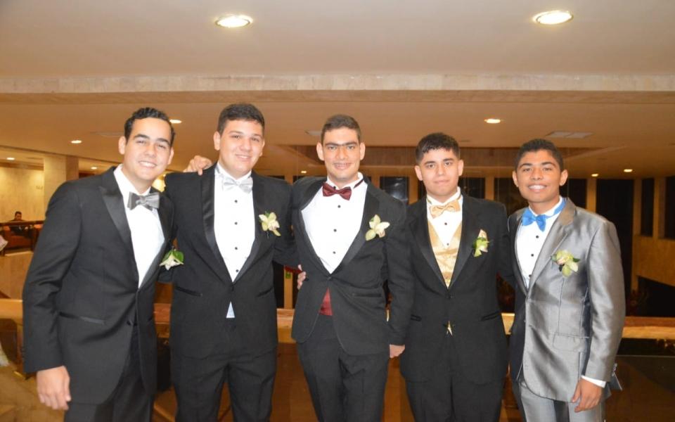 Daniel Granados, Simón Bermúdez, Carlos Arango, Roberto Cotes y Sebastián Quintero.