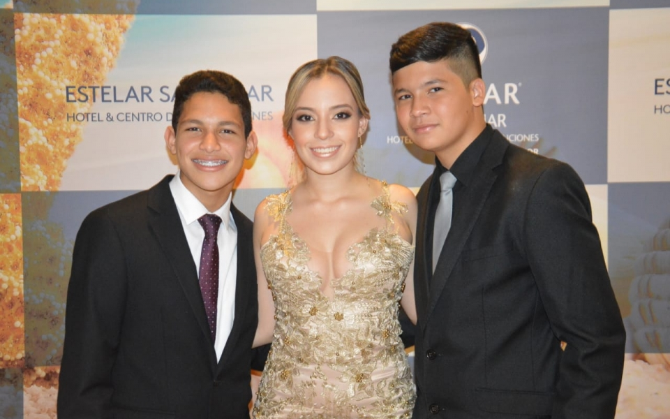 Carlos Andrés Caicedo, Valentina Acosta Caicedo y Miguel David Fernández.
