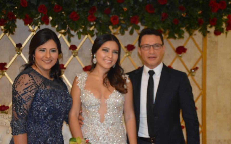 Sofía Caicedo Villarroel, Elisa Villarroel y el exalcalde Carlos Caicedo.
