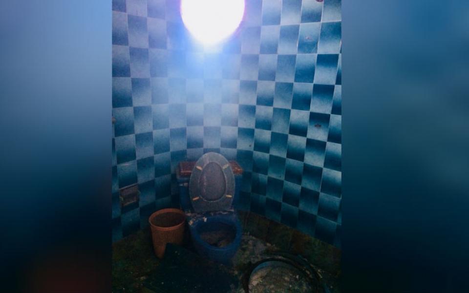 Los baños  también hicieron parte de los espacios captados por el lente fotográfico.