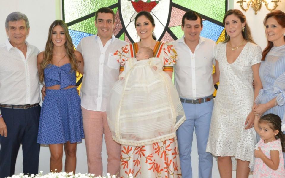 Carlos Francisco Zúñiga, Ana María, Rafael Zúñiga, Rafael Ignacio Díaz Granados Zúñiga, Manira Guerra, José Francisco, María Alexandra Dávila y Rosa Cotes.
