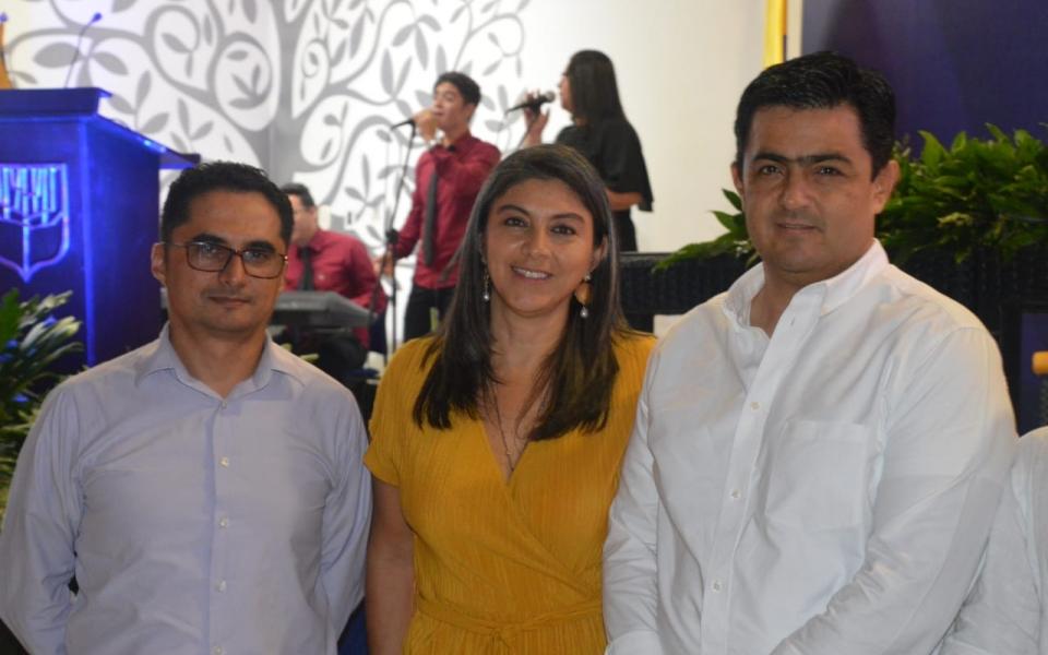 Luis Navarro, Claudia Mejía y German Palacios