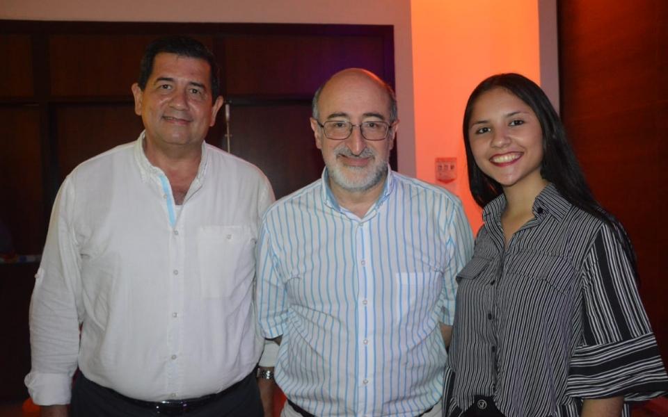 Orlando Segrera, Juan Lozano y Valentina Serrano